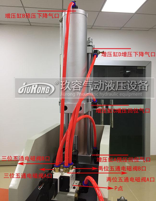 增压缸四个口的连接图